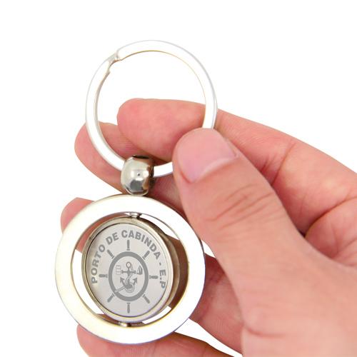 Round Shape Spinning Metal Keychain - Metal Keychains - Key